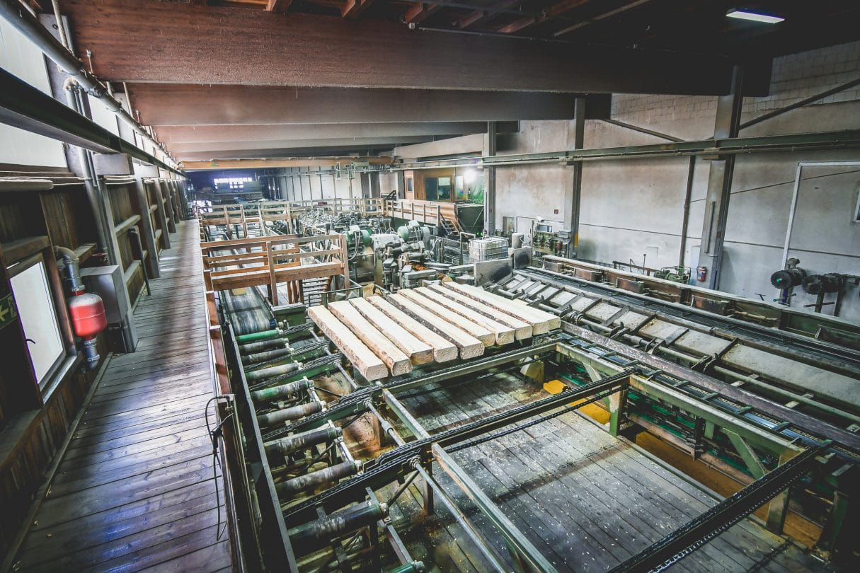 Blick in die Produktion bei den GELO Holzwerken Weißenstadt